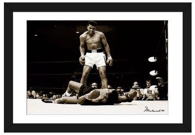 Muhammad Ali Vs. Sonny Liston, 1965 Framed Art Print