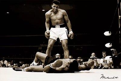 de Muhammad Ali Vs Liston 1965 boxing large steel sign 400mm x 300mm