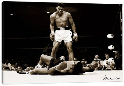 Muhammad Ali Vs. Sonny Liston, 1965 Canvas Art Print