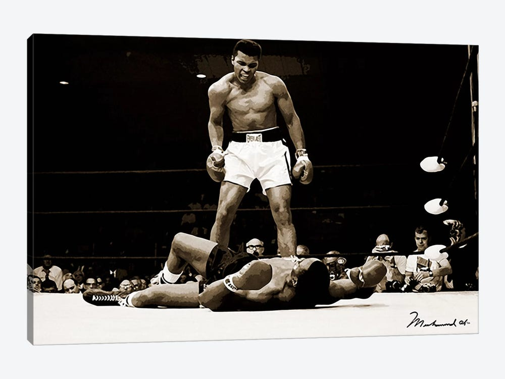 Muhammad Ali Vs. Sonny Liston, 1965 8-piece Canvas Artwork