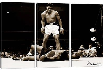 Muhammad Ali Vs. Sonny Liston, 1965 Canvas Art Print