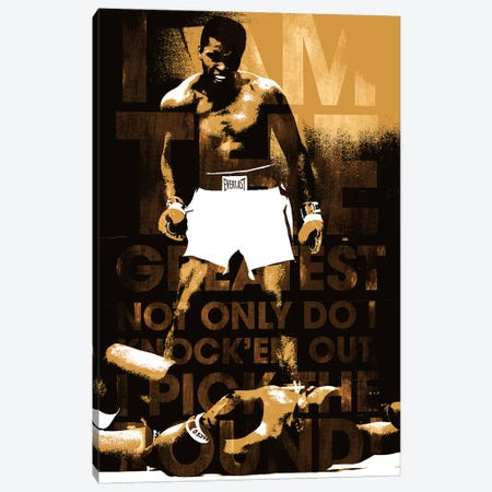 "Muhammad Ali Vs. Sonny Liston, 1965 ""I am The Greatest"" Canvas Print #10009} Canvas Artwork"