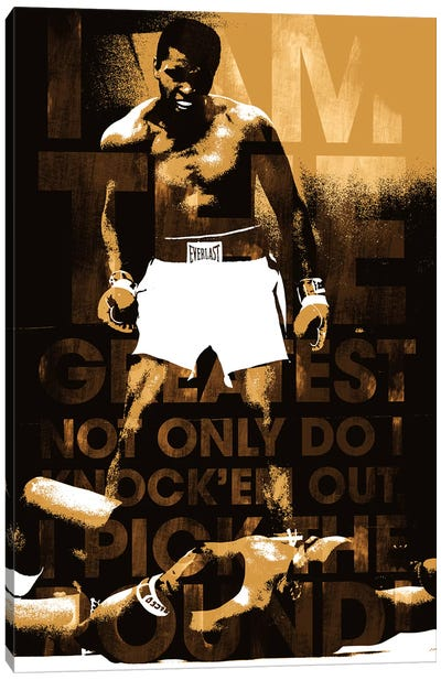 "Muhammad Ali Vs. Sonny Liston, 1965 ""I am The Greatest"" Canvas Art Print"
