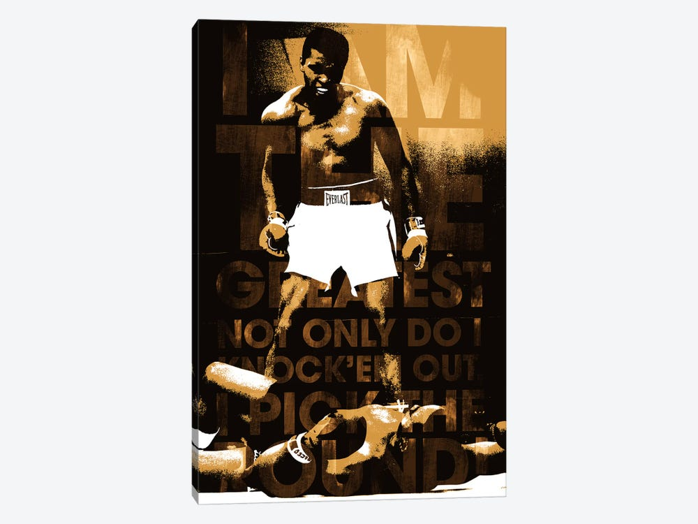 "Muhammad Ali Vs. Sonny Liston, 1965 ""I am The Greatest"" by Muhammad Ali Enterprises 1-piece Art Print"