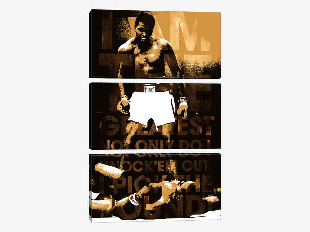"Muhammad Ali Vs. Sonny Liston, 1965 ""I am The Greatest"" 3-piece Art Print"