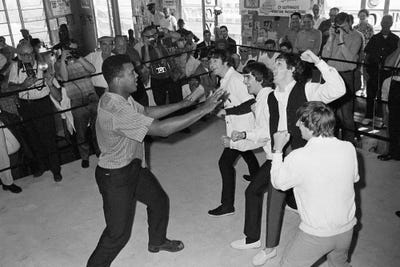 The Beatles in Ring with Muhammad A... | Muhammad Ali Enterprises ...