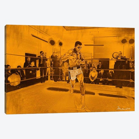 Muhammad Ali in training in London for Brian London fight, 1966 Canvas Print #10012} by Muhammad Ali Enterprises Art Print