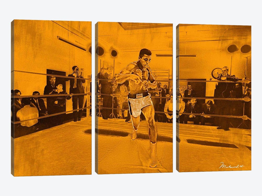 Muhammad Ali in training in London for Brian London fight, 1966 3-piece Art Print