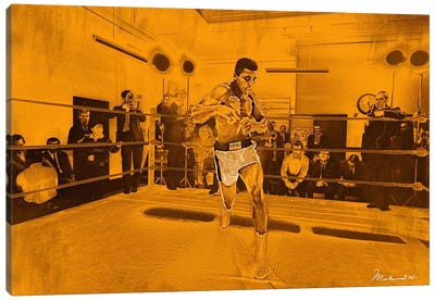Muhammad Ali in training in London for Brian London fight, 1966 Canvas Art Print