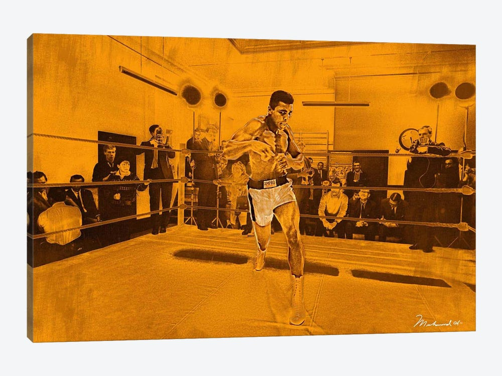 Muhammad Ali in training in London for Brian London fight, 1966 by Muhammad Ali Enterprises 1-piece Canvas Art Print