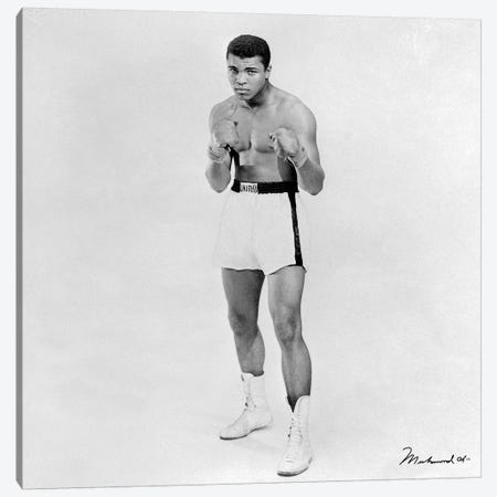 Heavyweight Boxer Muhammad Ali Canvas Print #10013} Art Print