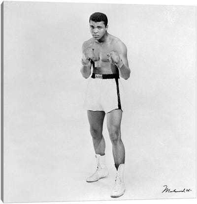 Heavyweight Boxer Muhammad Ali Canvas Art Print