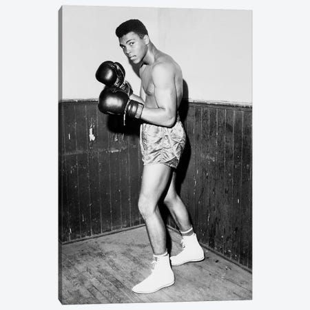 Winner of Golden Gloves Heavyweight Title, 1960 Canvas Print #10014} by Muhammad Ali Enterprises Canvas Artwork