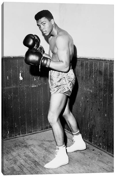 Winner of Golden Gloves Heavyweight Title, 1960 Canvas Art Print