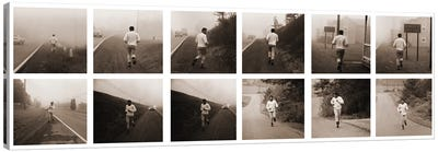 Ali in Training, Jogging in Deerpark, PA Canvas Art Print