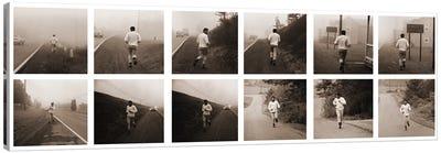 Ali in Training, Jogging in Deerpark, PA Canvas Art Print