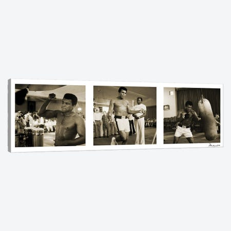 Training in Action at the gym Canvas Print #10016} by Muhammad Ali Enterprises Canvas Artwork