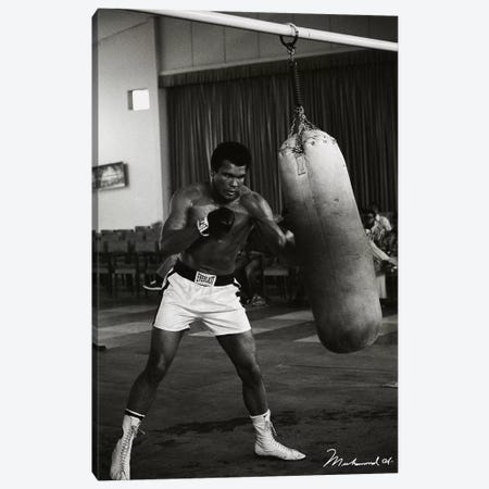 Ali Training in Zaire Canvas Print #10018} Canvas Art Print