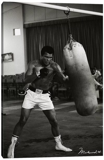 Ali Training in Zaire Canvas Art Print