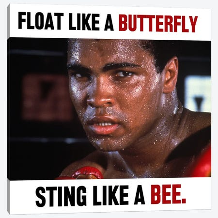 Float like a butterfly Sting like a Bee Canvas Print #10019} by Muhammad Ali Enterprises Art Print
