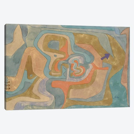 Flying Away (Entfliegen) 1934 Canvas Print #1001} by Paul Klee Canvas Art
