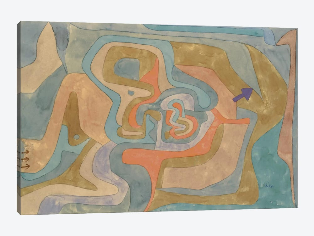 Flying Away (Entfliegen) 1934 by Paul Klee 1-piece Canvas Art Print
