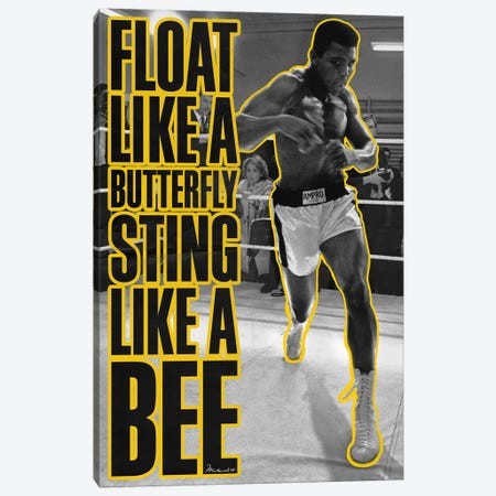Float like a butterfly Sting like a Bee Canvas Print #10021} Canvas Artwork