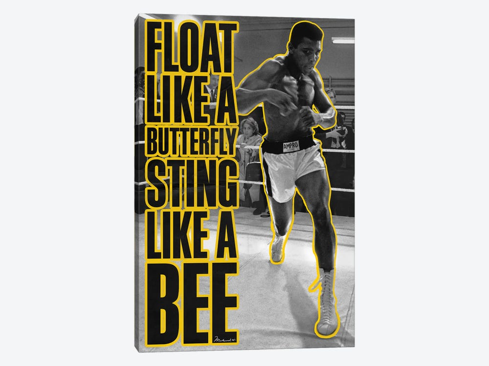 Float like a butterfly Sting like a Bee 1-piece Canvas Art Print