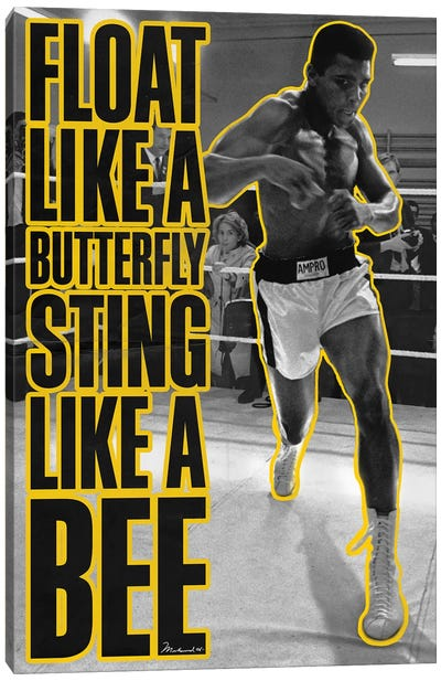 Float like a butterfly Sting like a Bee Canvas Art Print