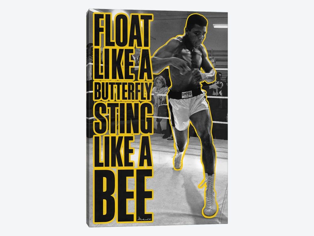 Float like a butterfly Sting like a Bee by Muhammad Ali Enterprises 1-piece Canvas Art Print