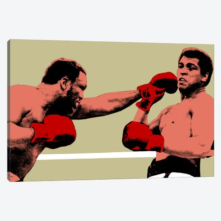 Joe Frazier Throwing Punch at Muhammad Ali, 1975 Canvas Print #10024} Canvas Print