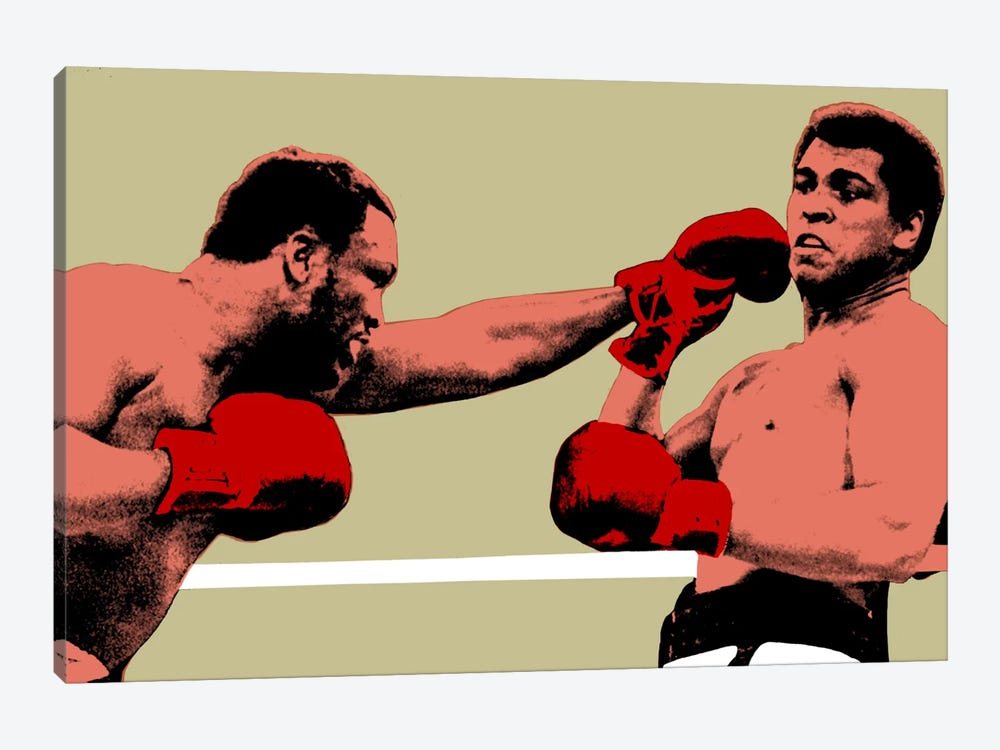 Joe Frazier Throwing Punch at Muhammad Ali, 1975 1-piece Canvas Wall Art