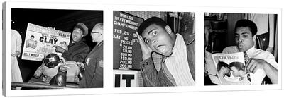 Muhammad Ali Reading a Magazine's Canvas Print #10028