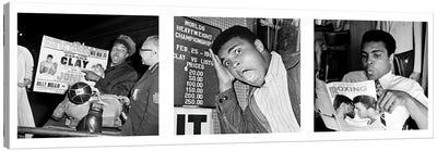 Muhammad Ali Reading a Magazine's Canvas Print #10028