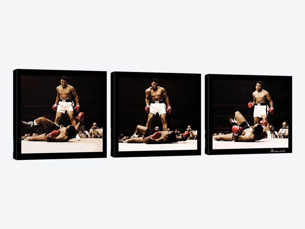 Muhammad Ali Vs. Sonny Liston by Muhammad Ali Enterprises 3-piece Art Print