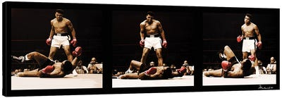 Muhammad Ali Vs. Sonny Liston Canvas Art Print