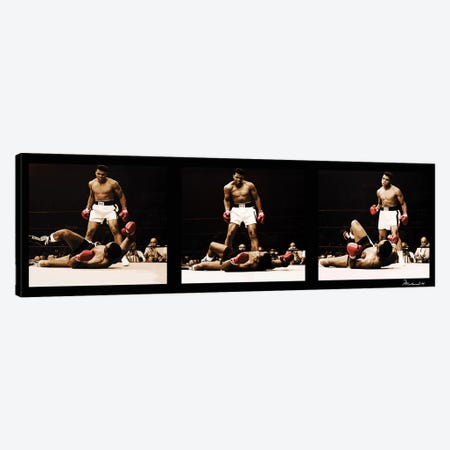 Muhammad Ali Vs. Sonny Liston Canvas Print #10029} by Muhammad Ali Enterprises Canvas Artwork