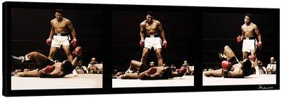 Muhammad Ali Vs. Sonny Liston Canvas Art Print
