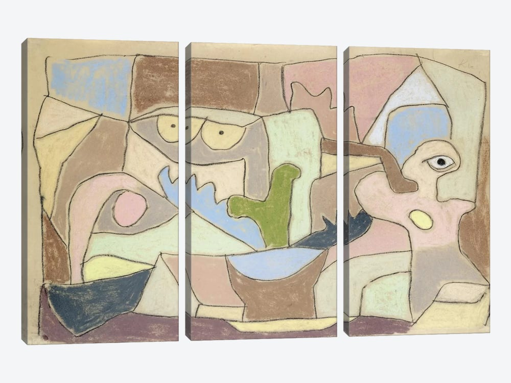 Also True of Plants (Gilt Auch Fur Pflanzen) 1932 by Paul Klee 3-piece Canvas Art