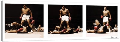 Muhammad Ali Vs. Sonny Liston Canvas Print #10030