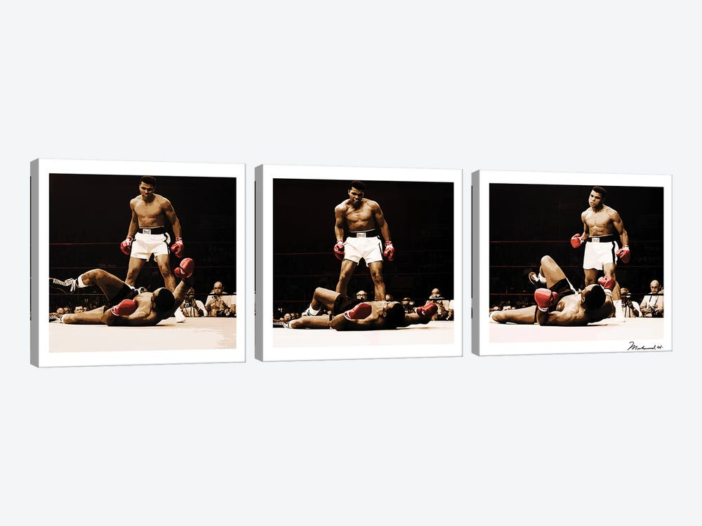 Muhammad Ali Vs. Sonny Liston 3-piece Canvas Art Print