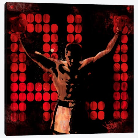 Champ (Muhammad Ali) Canvas Print #10032} by Joe Petruccio Art Print