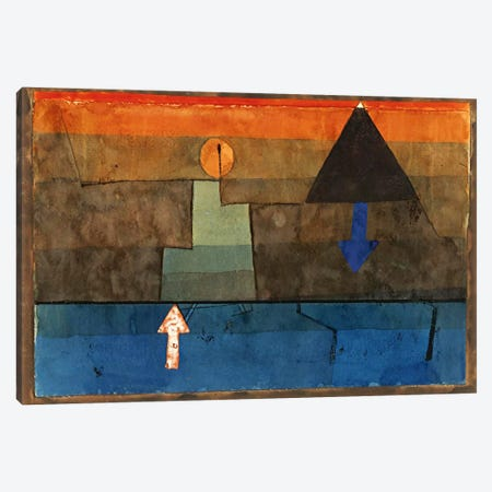 Contrasts in the Evening (Blue and Orange) 1924-1925 Canvas Print #1004} by Paul Klee Art Print
