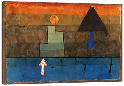 Contrasts in the Evening (Blue and Orange) 1924-1925 Canvas Art Print