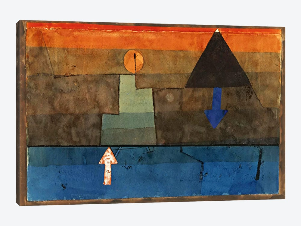 Contrasts in the Evening (Blue and Orange) 1924-1925 by Paul Klee 1-piece Canvas Wall Art