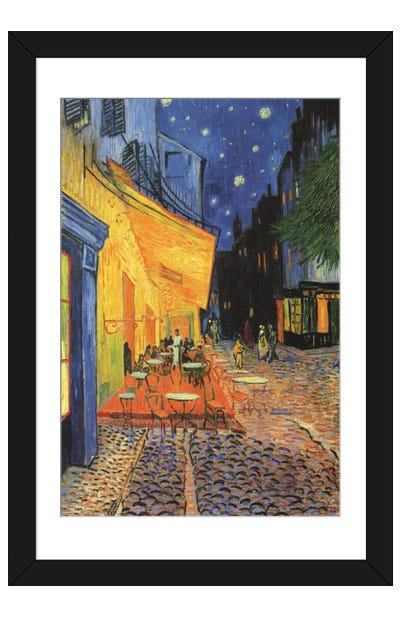 The Cafe Terrace on the Place du Forum (Café Terrace at Night), 1888 Framed Art Print