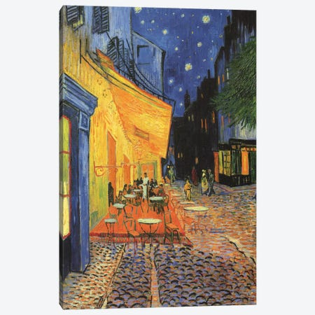 The Cafe Terrace on the Place du Forum (Café Terrace at Night), 1888 Canvas Print #1009} by Vincent van Gogh Canvas Art
