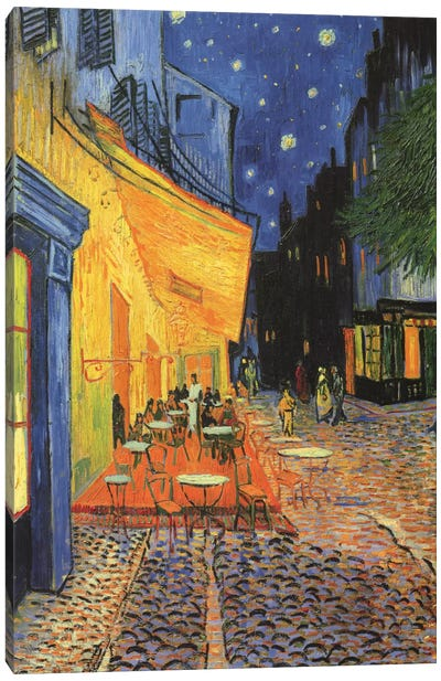 The Cafe Terrace on the Place du ForumArles, at Night, 1888 by Vincent van Gogh Canvas Art