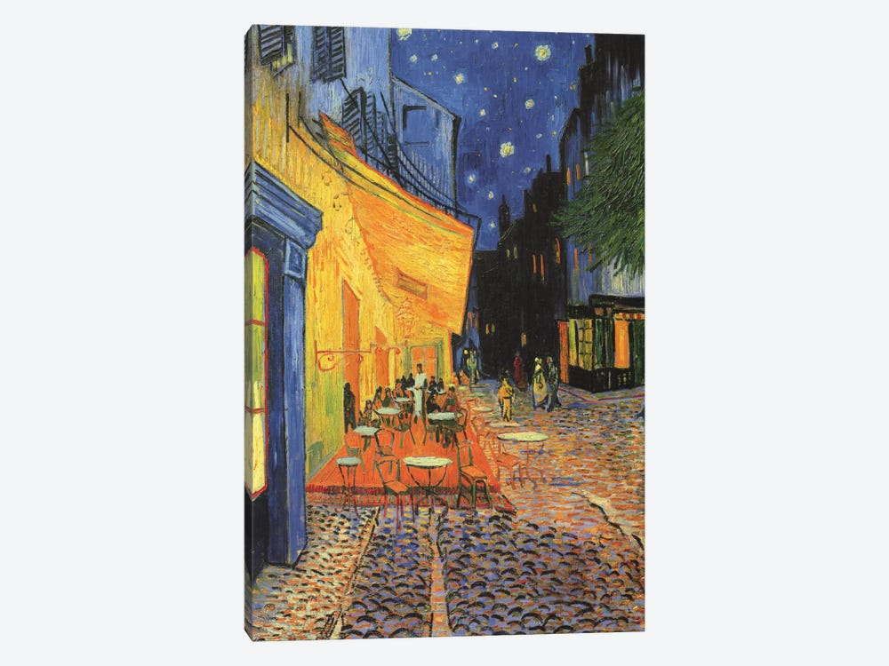 The Cafe Terrace on the Place du Forum (Café Terrace at Night), 1888 by Vincent van Gogh 1-piece Art Print