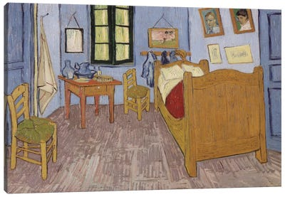 Bedroom In Arles, Third Version, September 1889 (Musee d'Orsay) Canvas Art Print